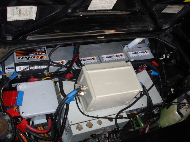 Everything in the engine compartment