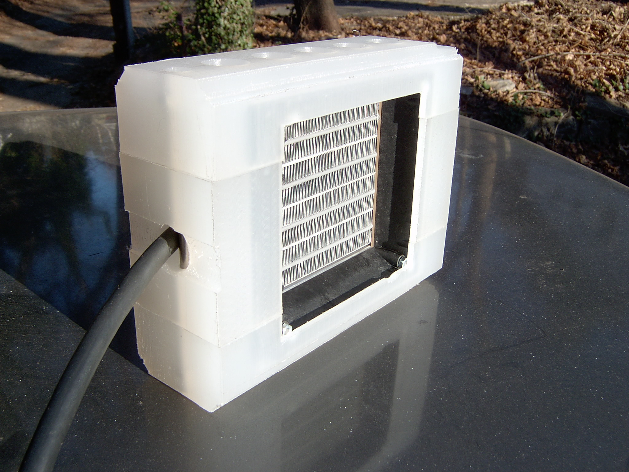 Heater with adapter pieces